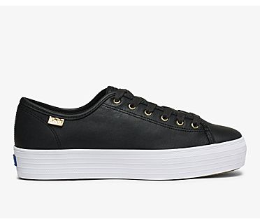 Triple Kick Luxe Leather, Black, dynamic