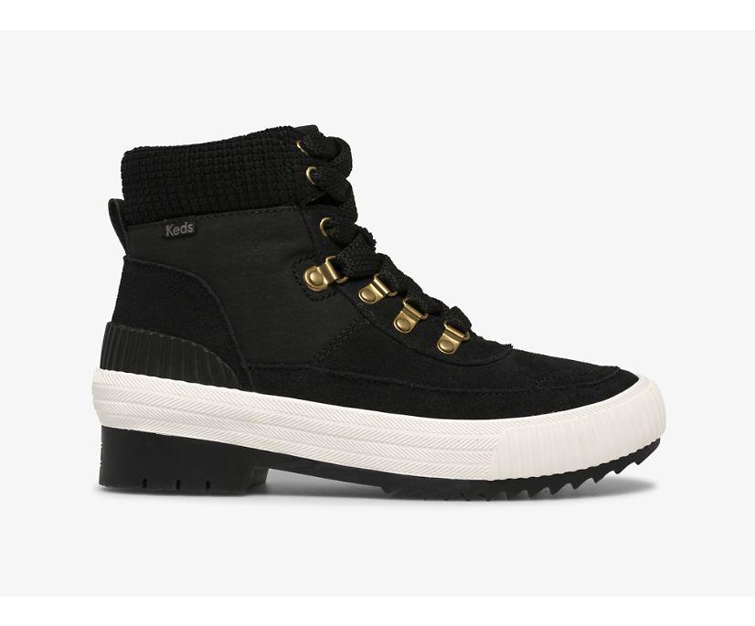 Fielder Boot Suede/Nylon & Velvet w/ Thinsulate™, Black, dynamic