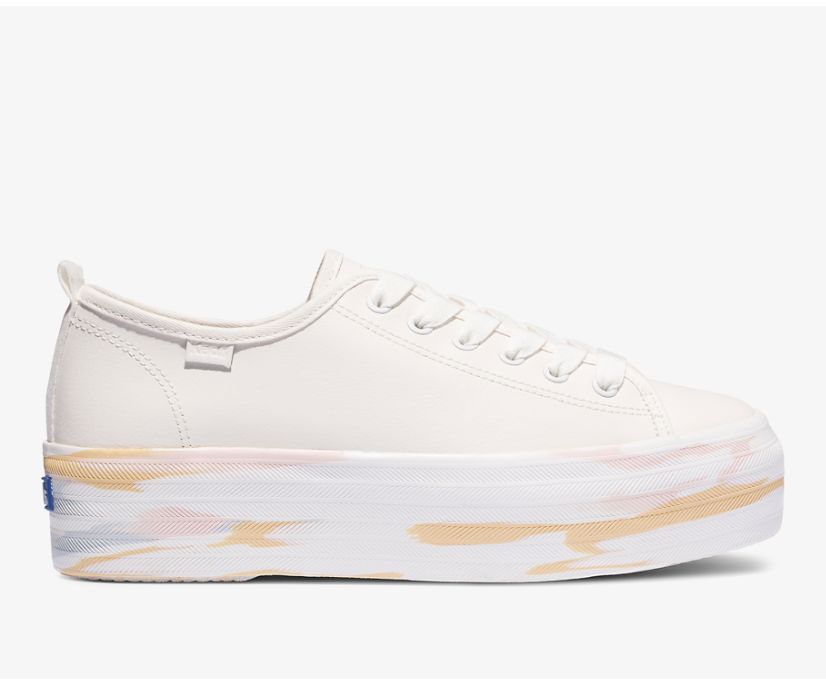 Triple Up Leather Leather Marble, Cream Multi, dynamic