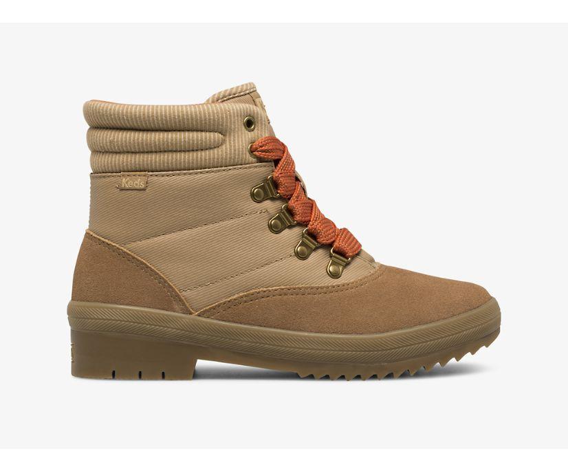 Camp Boot Suede & Splash Twill w/ Thinsulate™, Mix Cognac, dynamic