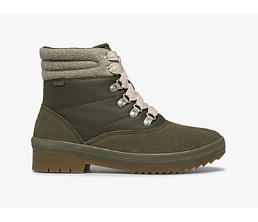Camp Boot Suede & Splash Twill w/ Thinsulate™, Mix Olive, dynamic