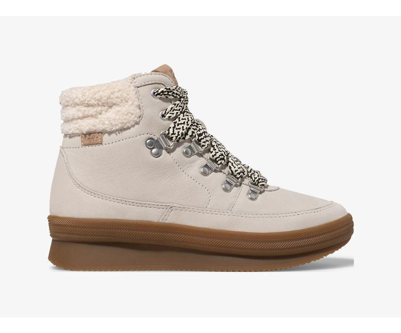 Midland Boot Luxe Leather w/ Faux Shearling and Thinsulate™, Cream, dynamic