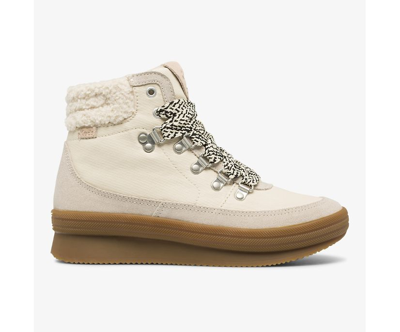 Midland Boot Suede & Splash Twill w/ Thinsulate™, Cream, dynamic