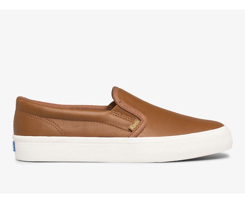 Jump Kick Slip Leather, Cognac, dynamic