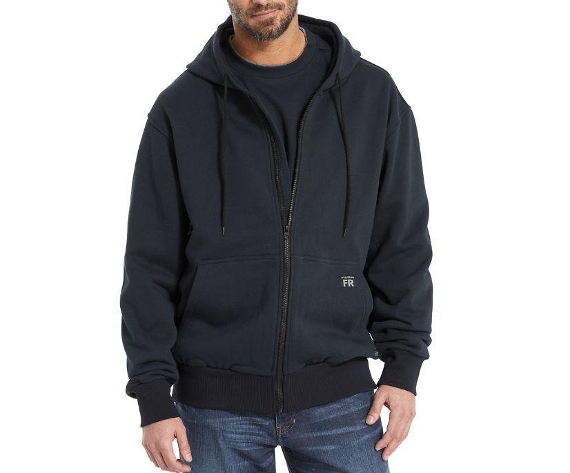 FR Fleece Zip Front Hoody, Navy, dynamic