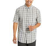 Mortar Short Sleeve Shirt, Concrete Plaid, dynamic