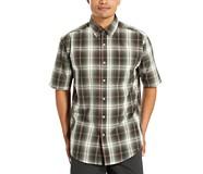 Mortar Short Sleeve Shirt (Big & Tall), Shadow Gray Plaid, dynamic
