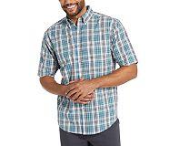 Mortar Short Sleeve Shirt (Big & Tall), Stellar Blue Plaid, dynamic