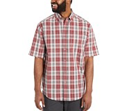 Mortar Short Sleeve Shirt (Big & Tall), Dark Brick Plaid, dynamic