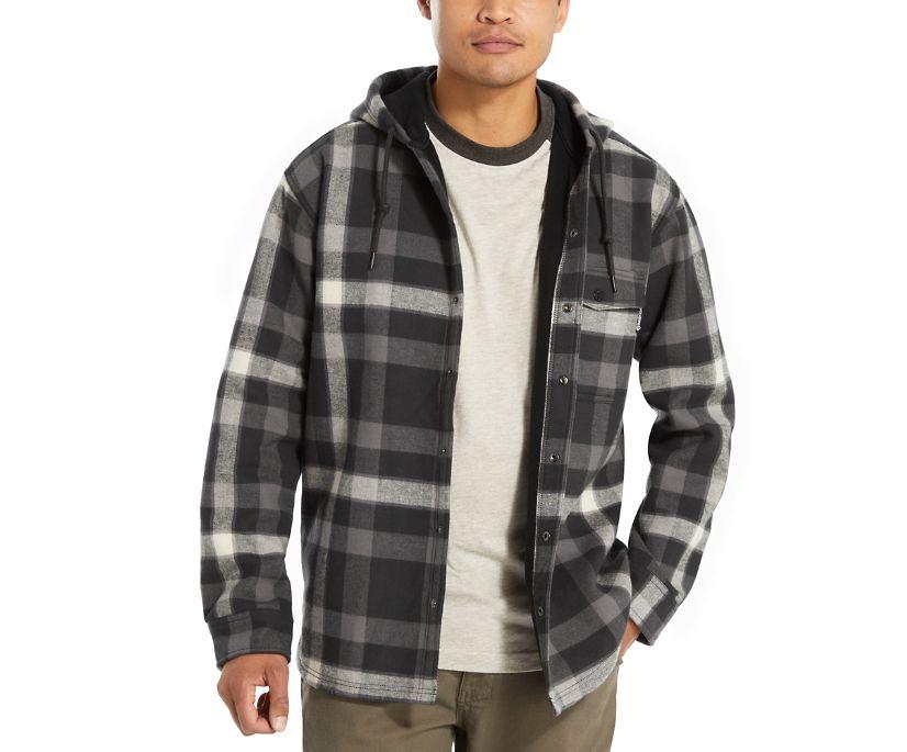 Bucksaw Bonded Shirt Jac, Onyx Plaid, dynamic