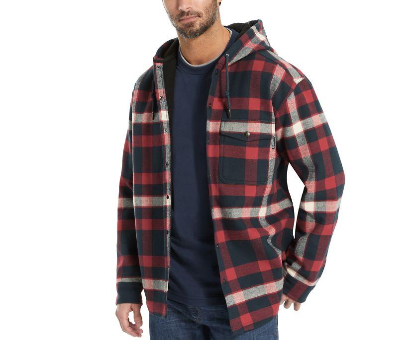 Bucksaw Bonded Shirt Jac, Dark Blue Plaid, dynamic