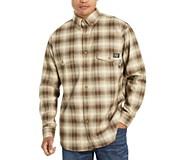 FR Plaid Long Sleeve Twill Shirt, Khaki Plaid, dynamic
