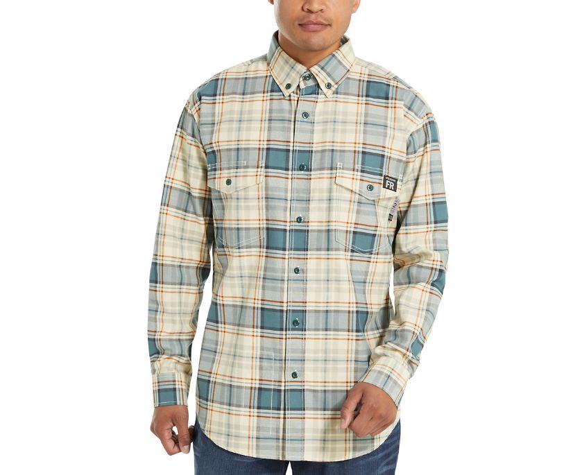 FR Plaid Long Sleeve Twill Shirt - 3X, Bering Plaid, dynamic
