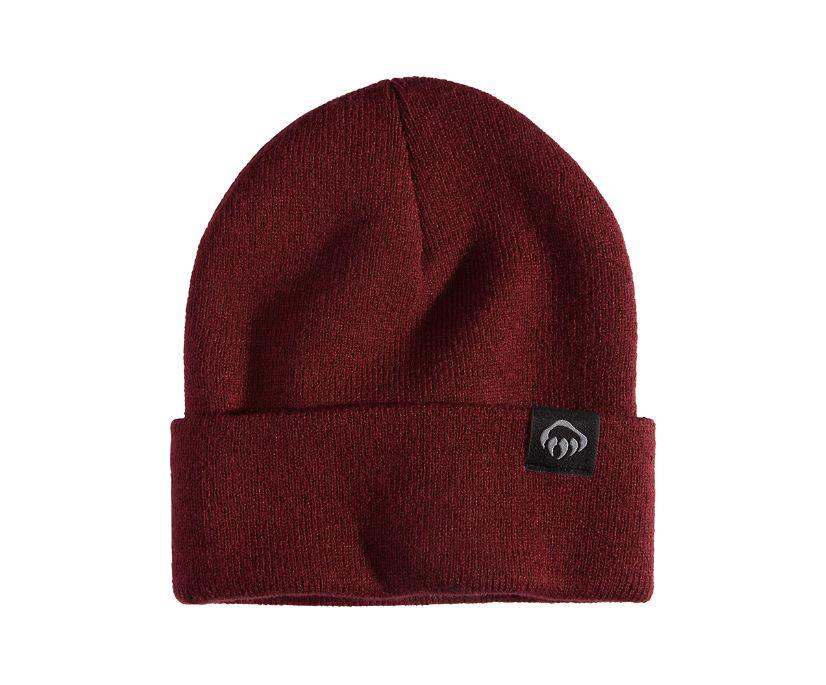 Knit Watch Cap, Burgundy, dynamic