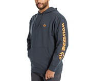 Graphic Hoody- Sleeve Logo, Dark Navy Heather, dynamic