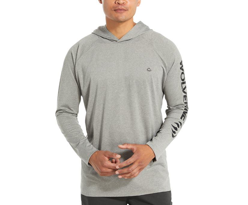 Sun-Stop Pullover Hoody, Concrete Heather, dynamic