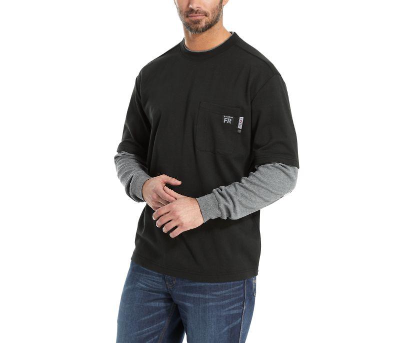 FR Miter Long Sleeve Tee, Black, dynamic
