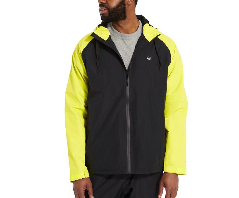 I-90 Rain Jacket, HIVIS Green, dynamic