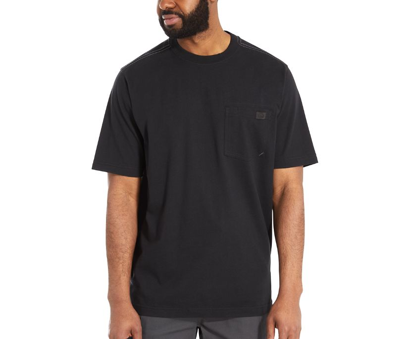 Guardian Cotton Pocket Tee, Black, dynamic
