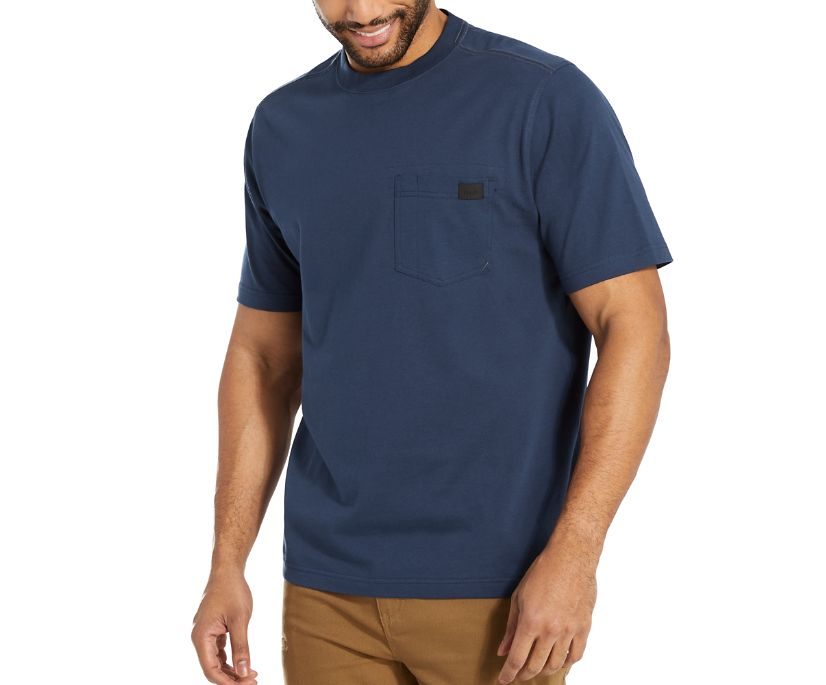 Guardian Cotton™ Pocket Tee, Navy, dynamic