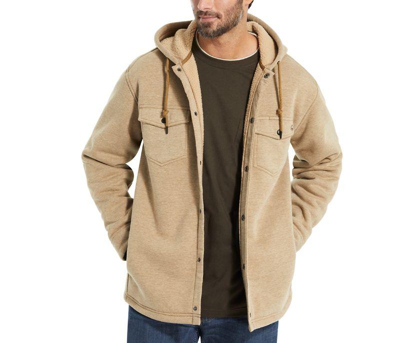Bucksaw Knit Shirt Jac, Coyote Heather, dynamic