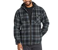Bucksaw Sherpa Shirt Jac, Dark Navy Plaid, dynamic