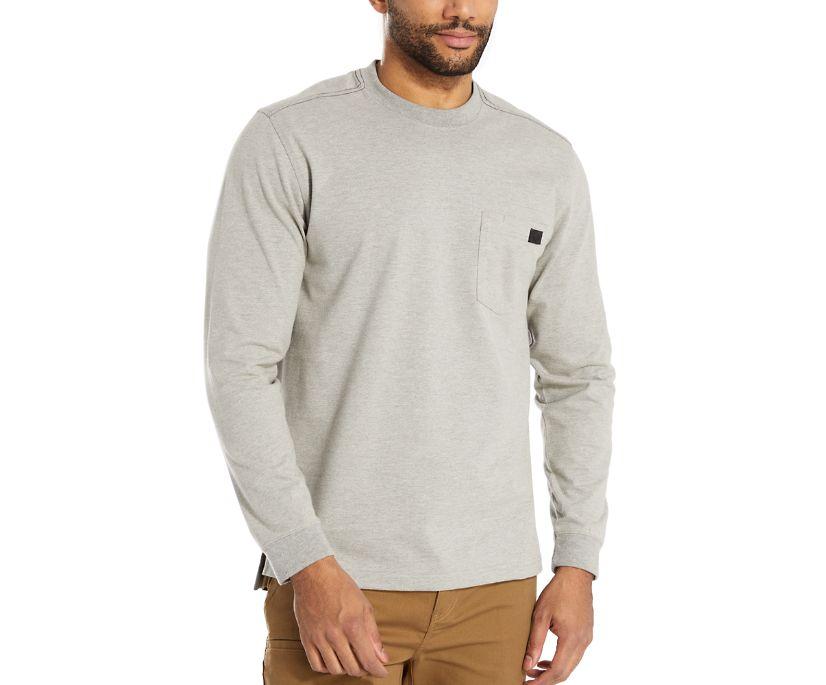 Guardian Cotton™ Long Sleeve Pocket Tee, Light Grey Heather, dynamic