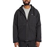 I-90 Sherpa Lined Rain Jacket, Black, dynamic