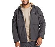 I-90 Sherpa Lined Rain Jacket, Granite, dynamic