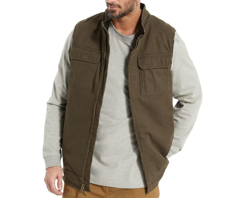 Lockhart Vest, Black Olive, dynamic