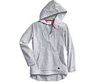 Woven Popover Hoodie, Navy/Grey, dynamic