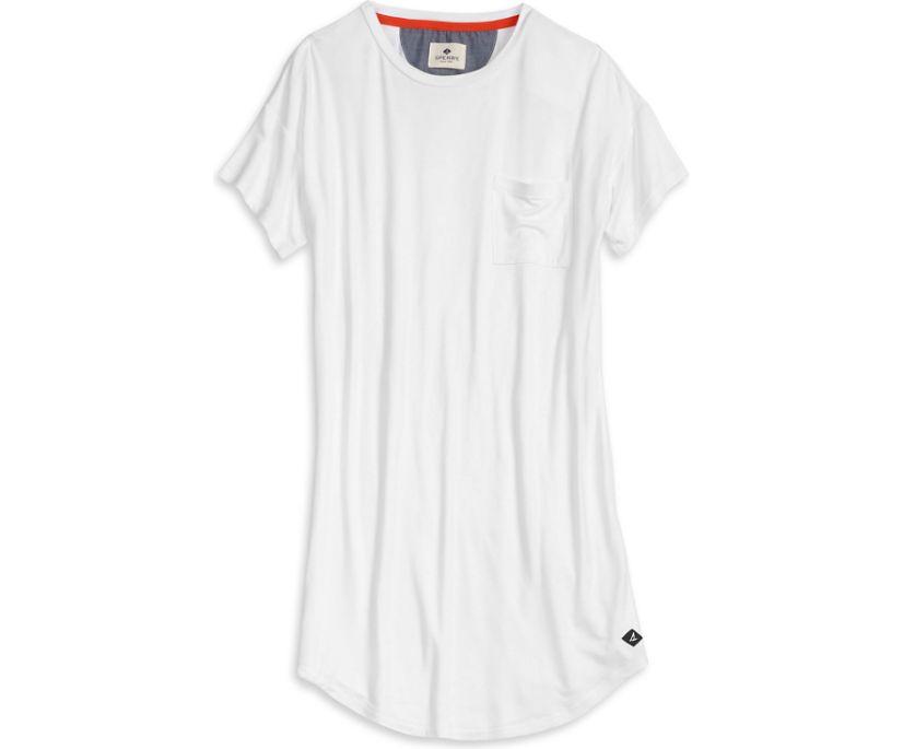 T-Shirt Dress, White, dynamic