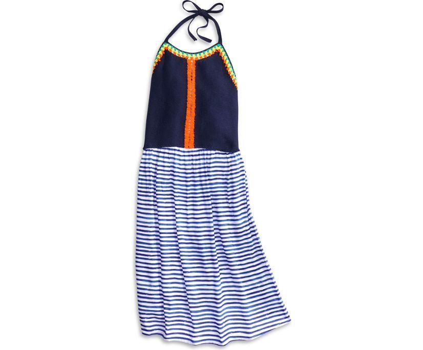 Caribbean Midi Dress, Navy, dynamic