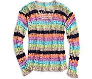 Crochet Tunic Swim Cover Up, Multi, dynamic