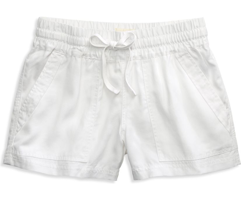 Pull-on Shorts, White, dynamic