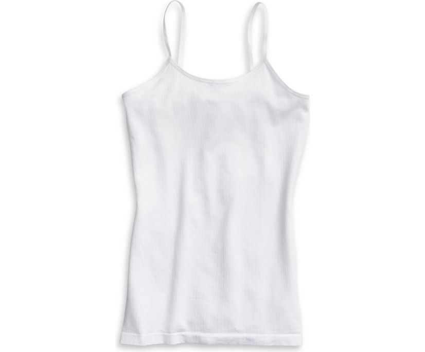 Seamless Cami, White, dynamic
