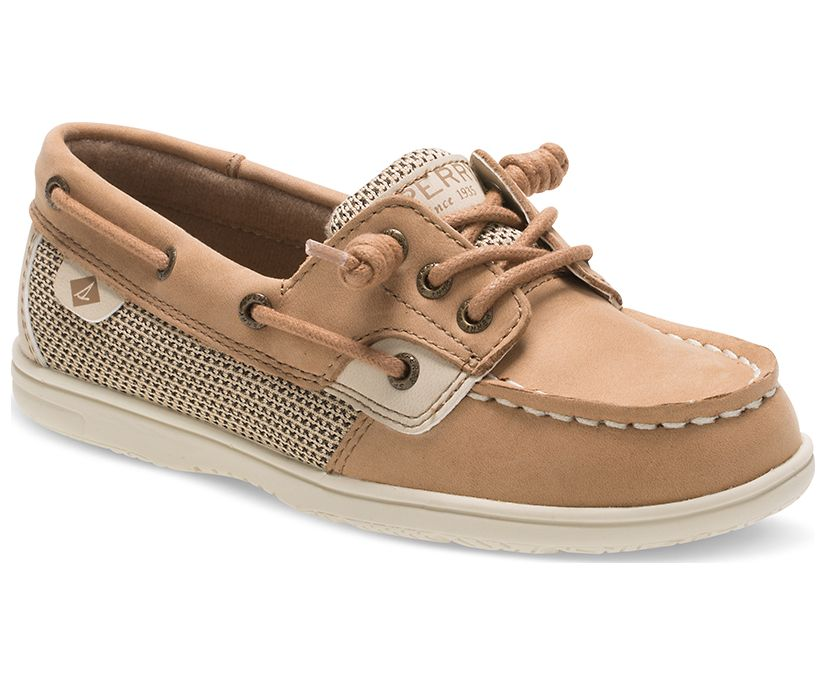 Shoresider 3 Eye Boat Shoe, Linen Oat, dynamic