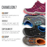 Chameleon 7 Access Mid A/C Waterproof Boot, Berry/Coral, dynamic