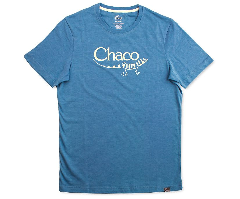 Chaco Heritage Logo Tee, Deep Teal, dynamic
