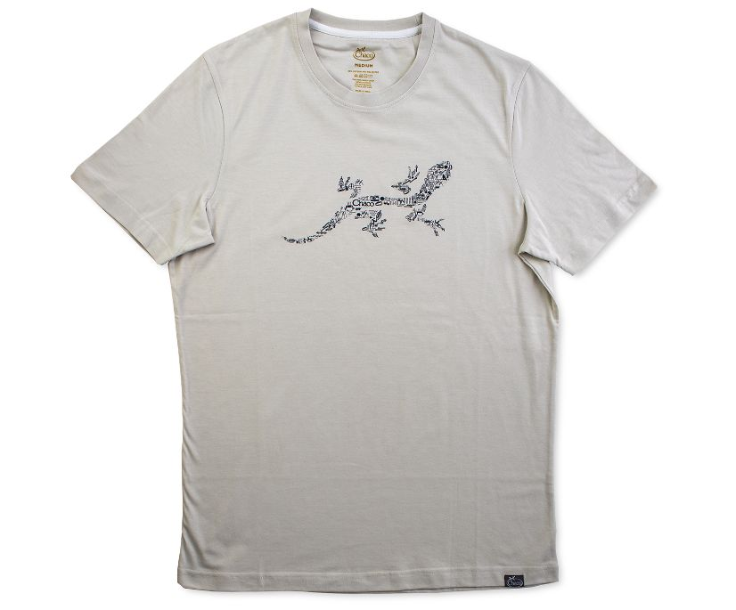 Chaco Gecko Graphic Tee, Cream, dynamic