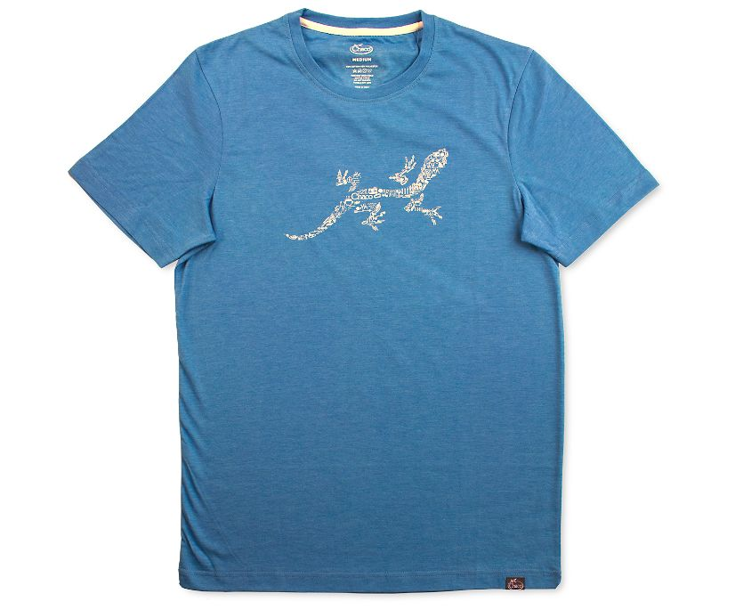 Chaco Gecko Graphic Tee, Deep Teal, dynamic