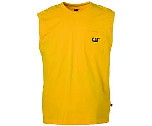 Trademark Sleeveless Pocket Tee, Yellow, dynamic