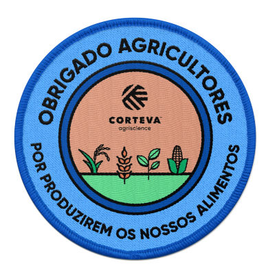 Carimbo Obrigado agricultores por cultivar nossa comida