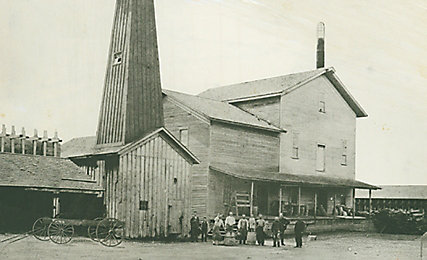 Old photo of flour mill