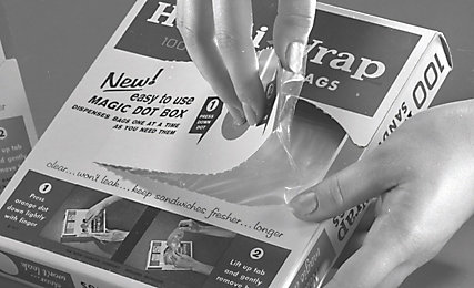 Old photo of Ziploc bags