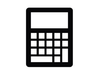 Black calculator icon