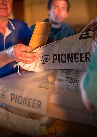 Pioneer branded seed bags