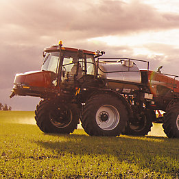 Sprayer in a field