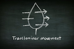 Translaminar movement drawing on chalkboard