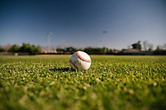 Image of baseball on a field